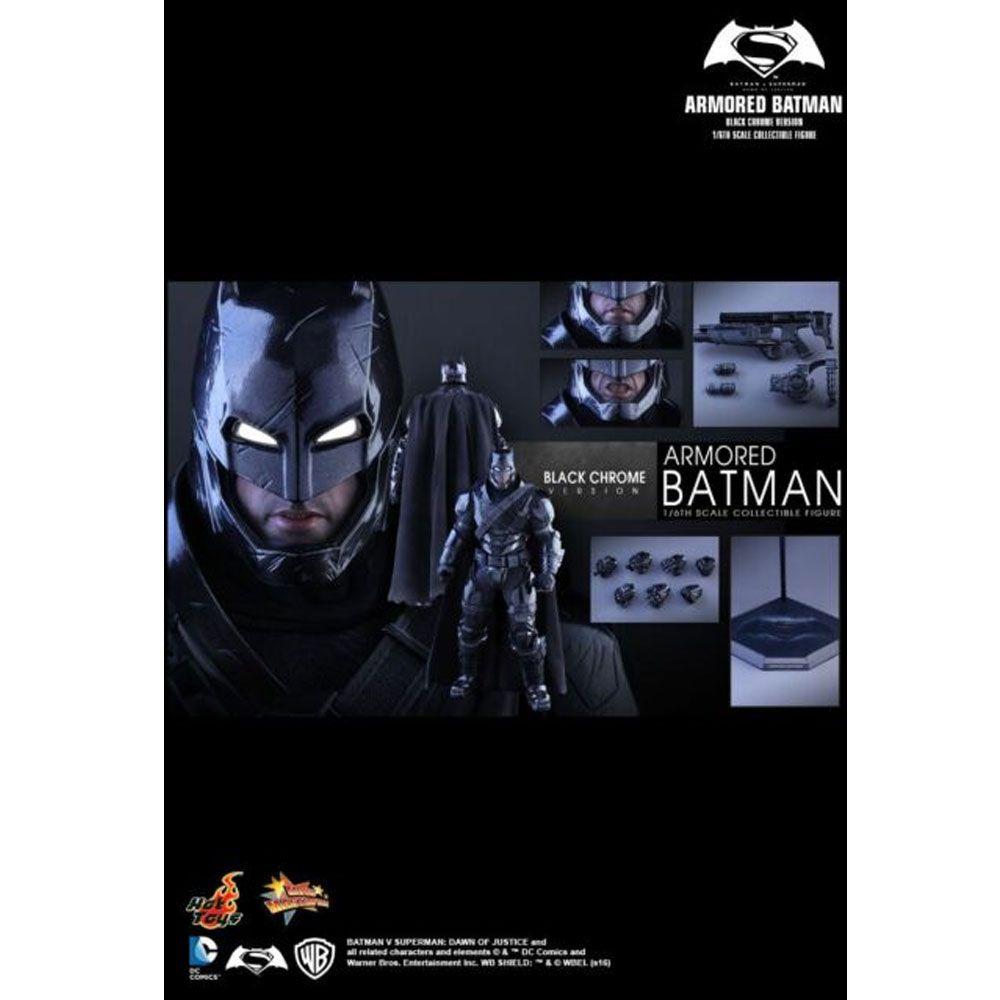 HOT TOYS ARMORED BATMAN CHROME MMS356