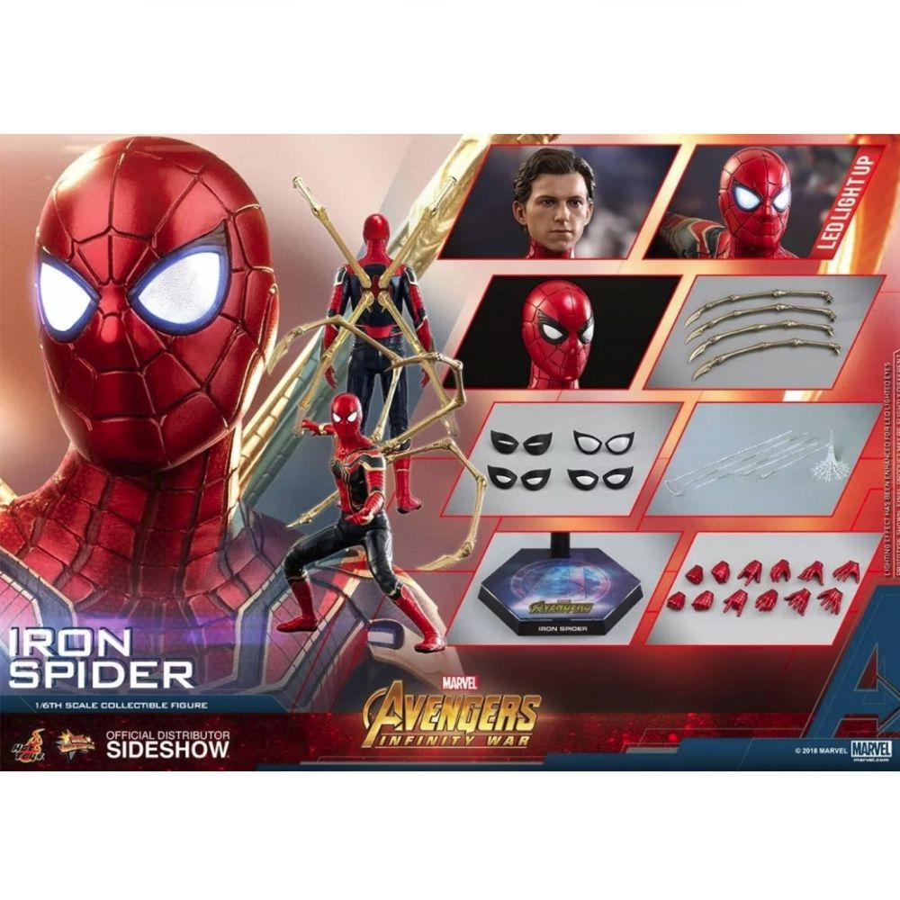 HOT TOYS IRON SPIDER INFINITY WAR MMS482