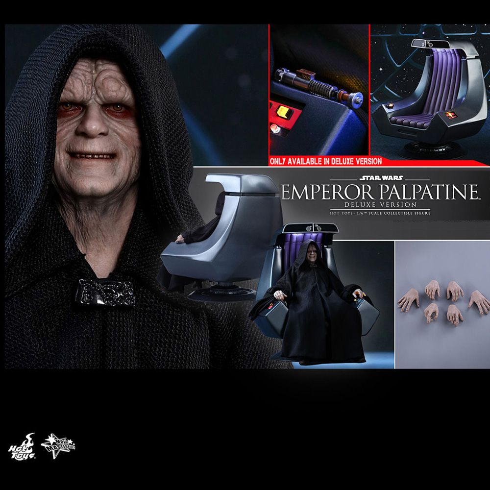 HOT TOYS STAR WARS EMPEROR PALPATINE DELUXE VERSION MMS468