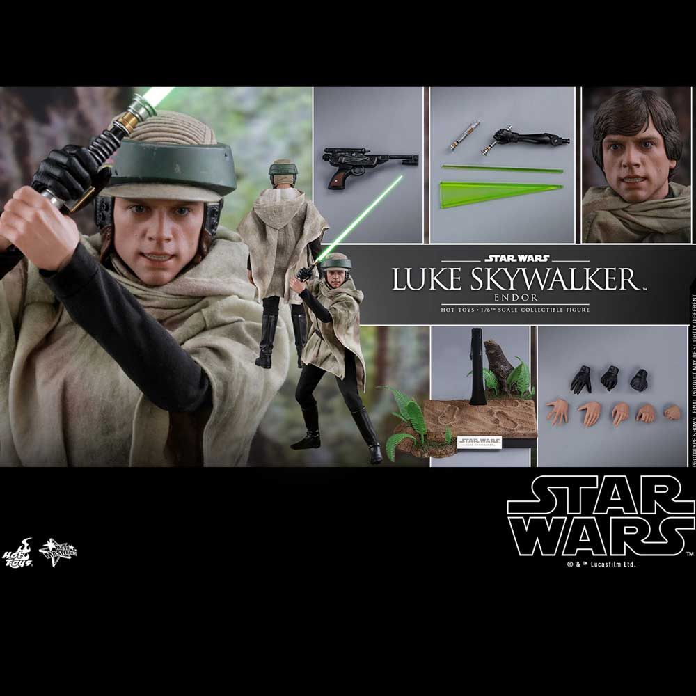 HOT TOYS STAR WARS LUKE SKYWAKER ENDOR MMS516 1/6
