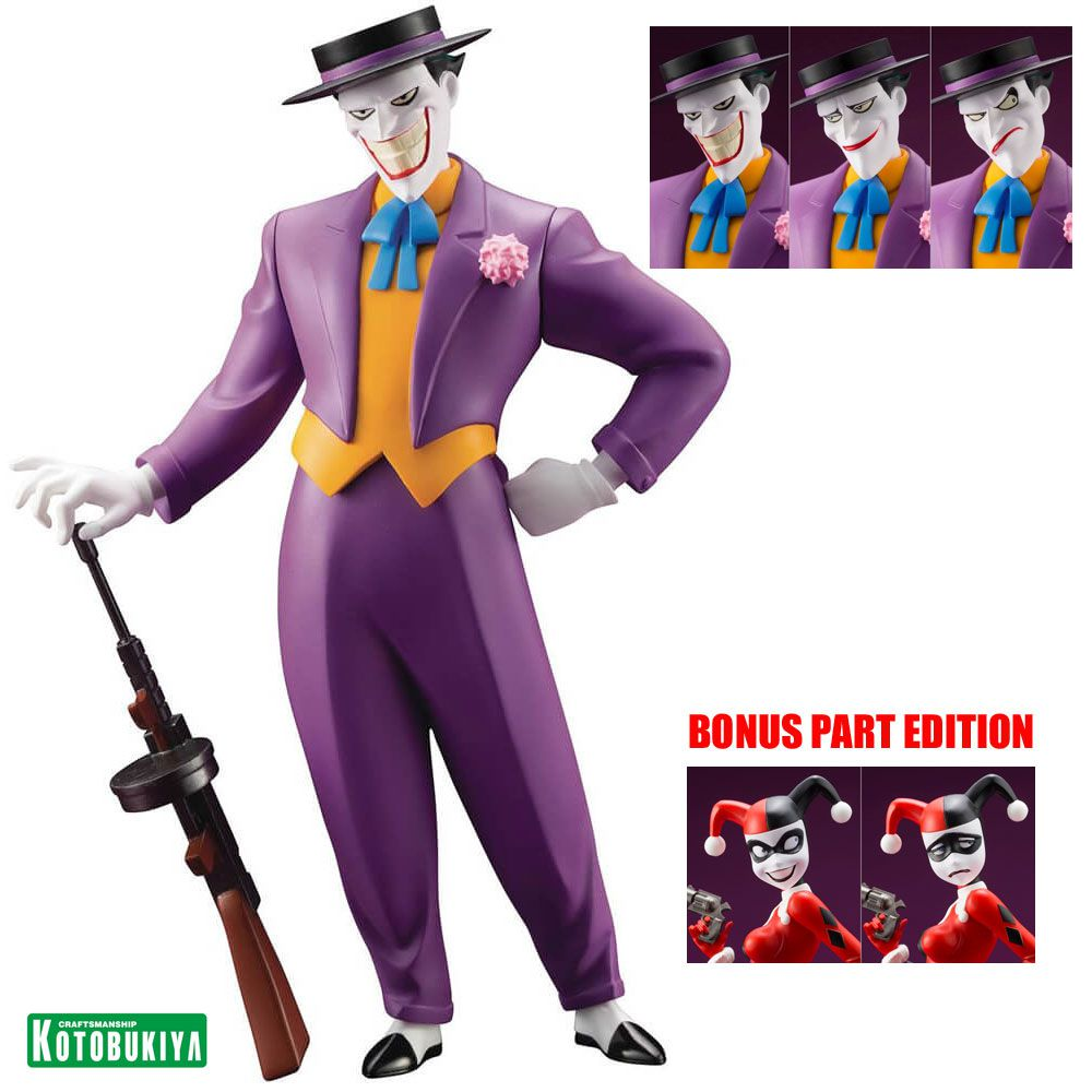 Kotobukiya Joker Batman Animated The ArtFX Statue BONUS PART