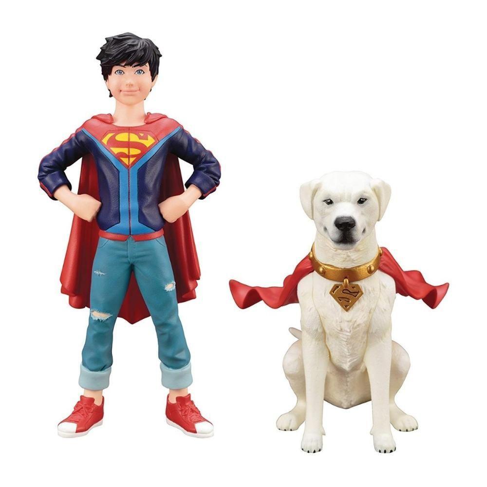 KOTOBUKIYA Superboy & Krypto (2 Pack) - ArtFX+ Statue