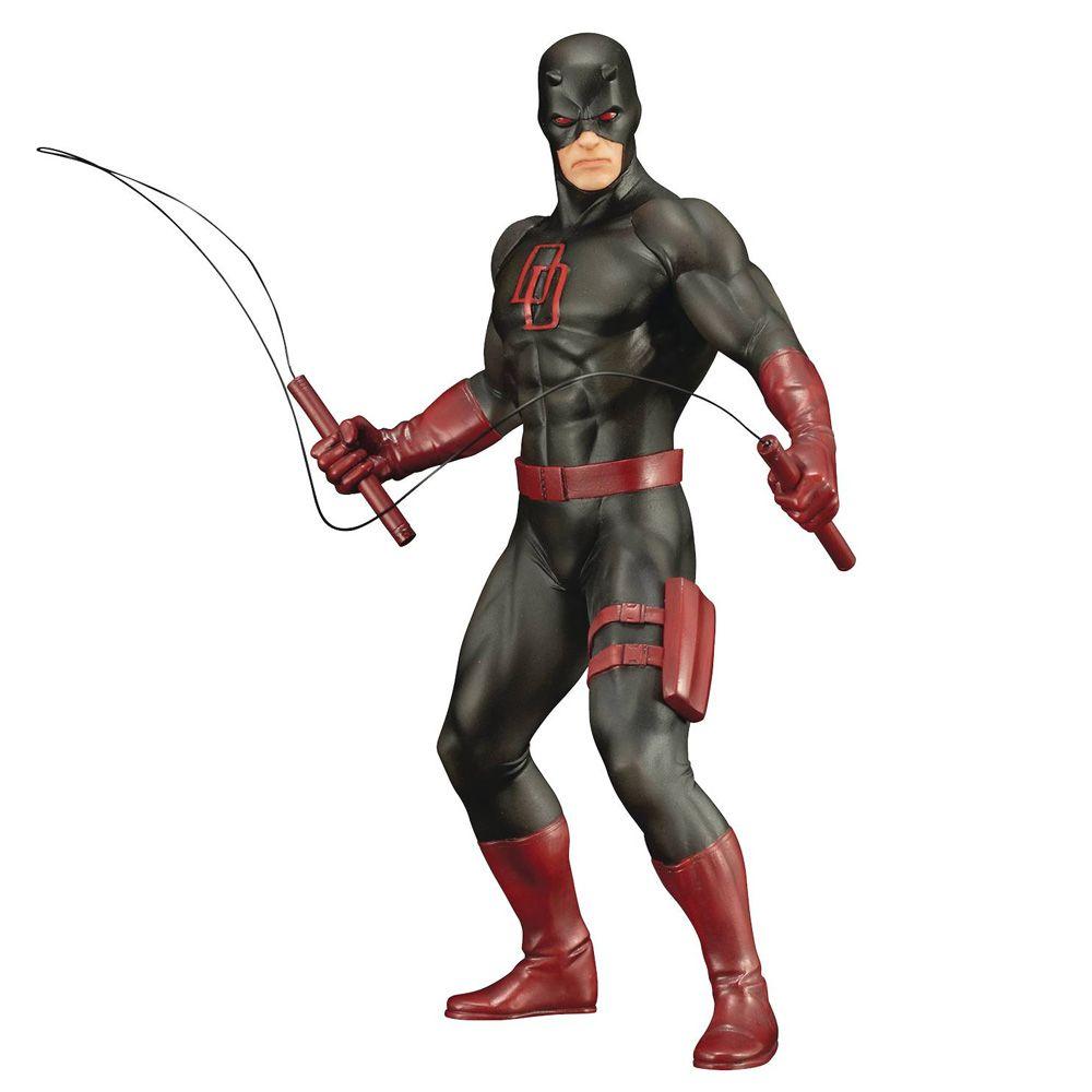 KOTOBUKIYA The Defenders Daredevil Black Suit ArtFX+ Statue