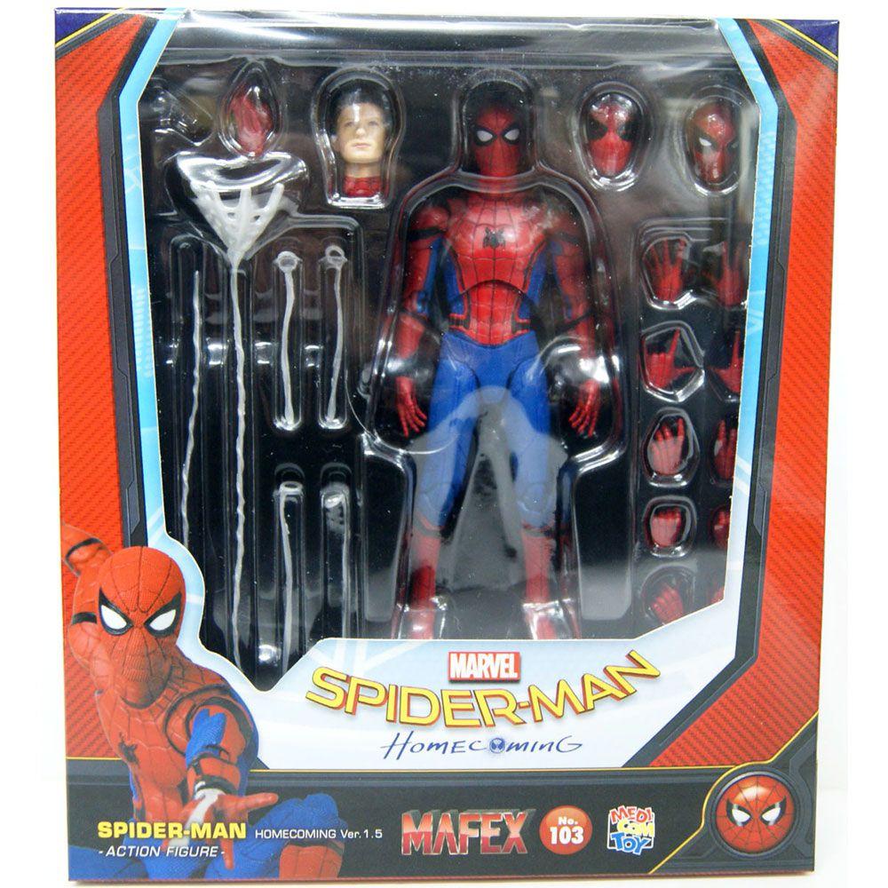 MAFEX 103 SPIDER MAN HOMECOMING HOMEM ARANHA DE VOLTA AO LAR