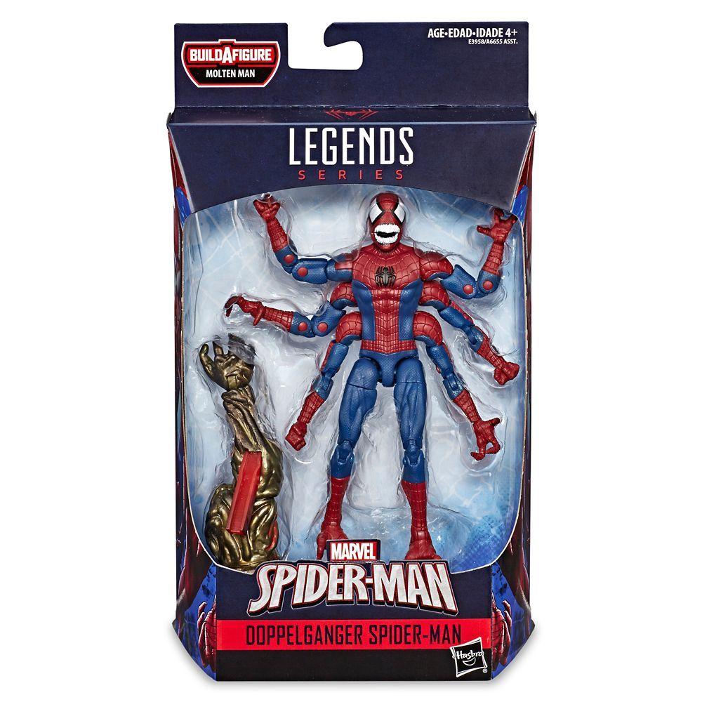 MARVEL LEGENDS DOPPELGANER SPIDER-MAN BAF MOLTEN MAN