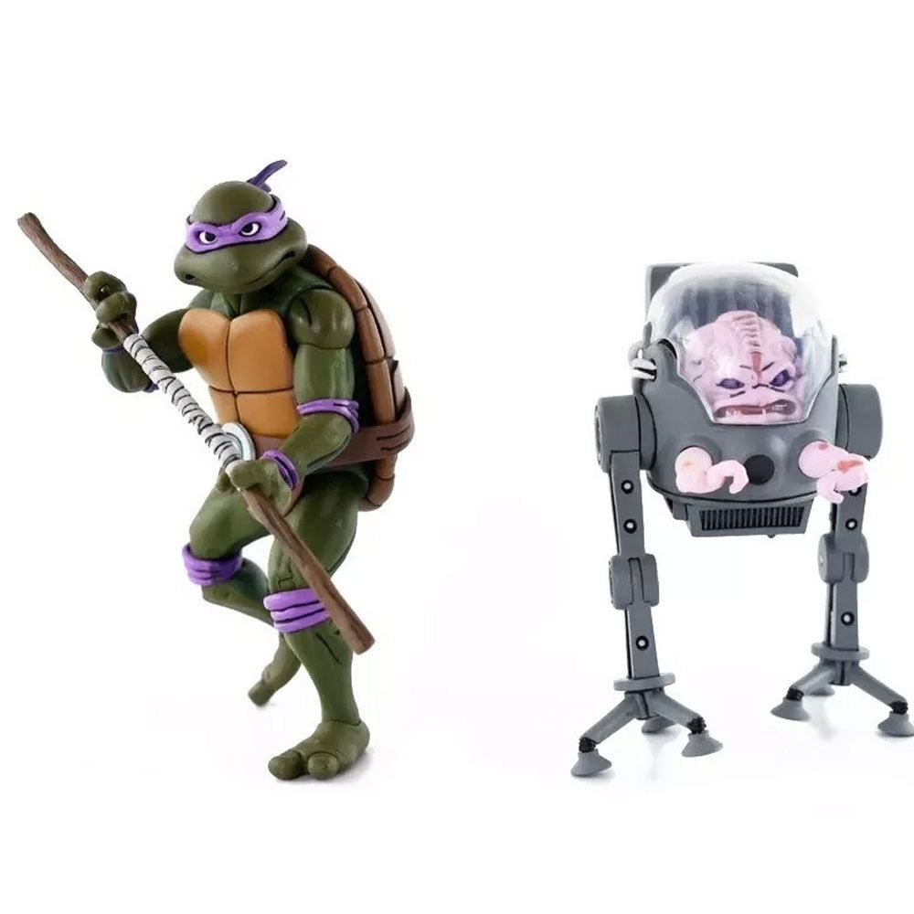 Neca TMNT Donatello Vs. Krang Cartoon 2 Pack Action figure