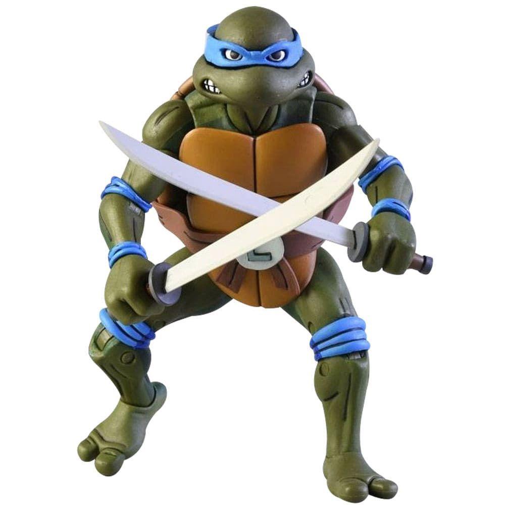 Neca TMNT Leonardo Vs. Shredder Cartoon 2 Pack Action figure