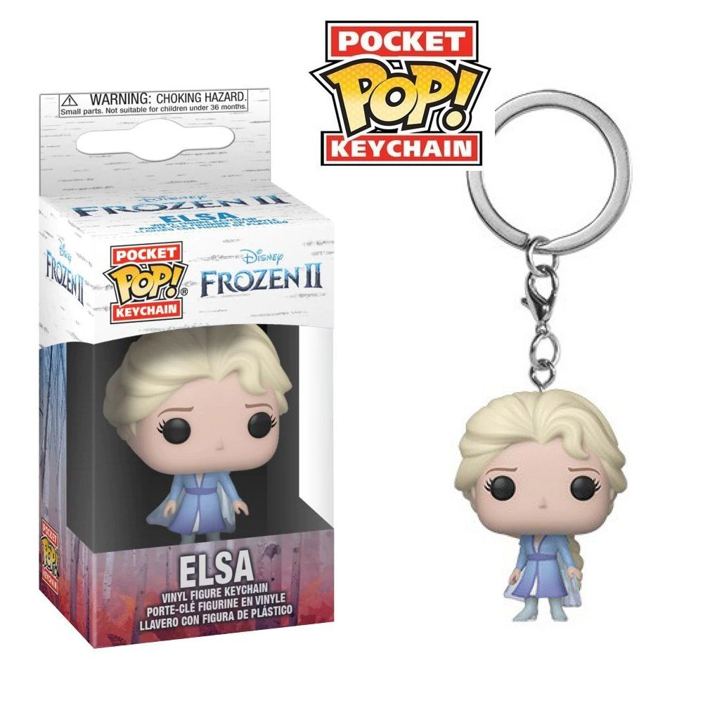 POCKET POP KEYCHAIN CHAVEIRO FUNKO ELSA FROZEN II DISNEY