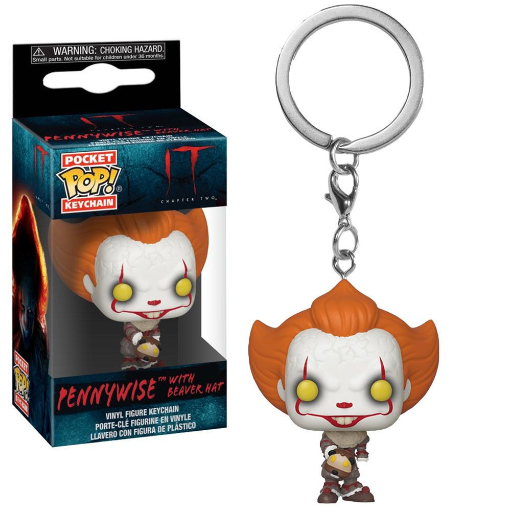 POCKET POP KEYCHAIN CHAVEIRO FUNKO IT PENNYWISE WITH  BEAVER HAT