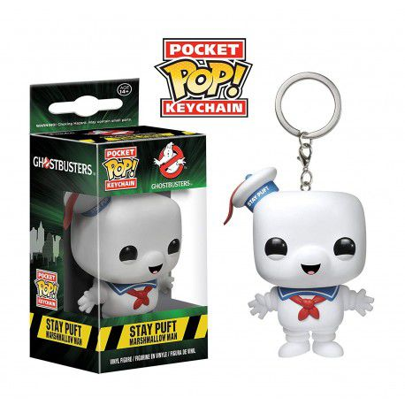 POCKET POP KEYCHAIN CHAVEIRO FUNKO STAY PUFT Ghost Buster