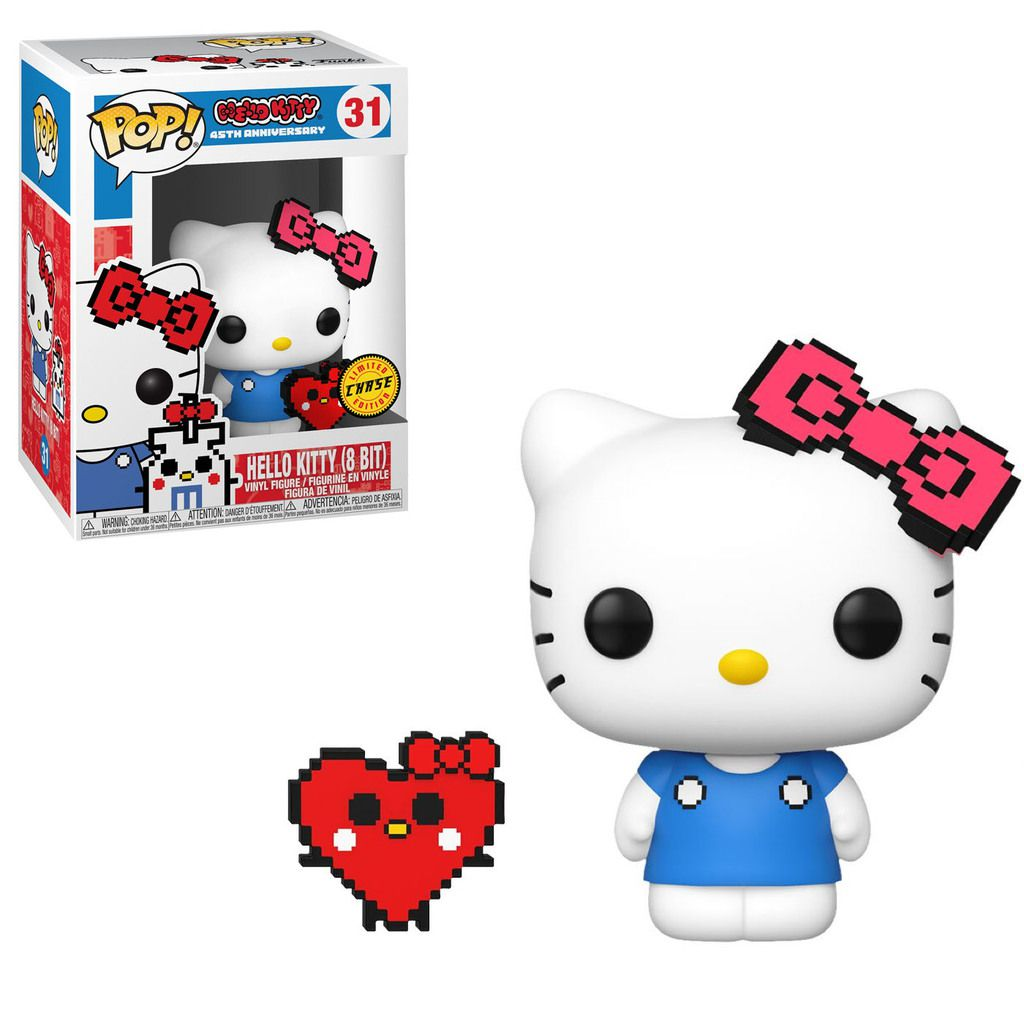 POP FUNKO 31 CHASE HELLO KITTY 8 BIT 45TH ANNIVERSARY CHASE