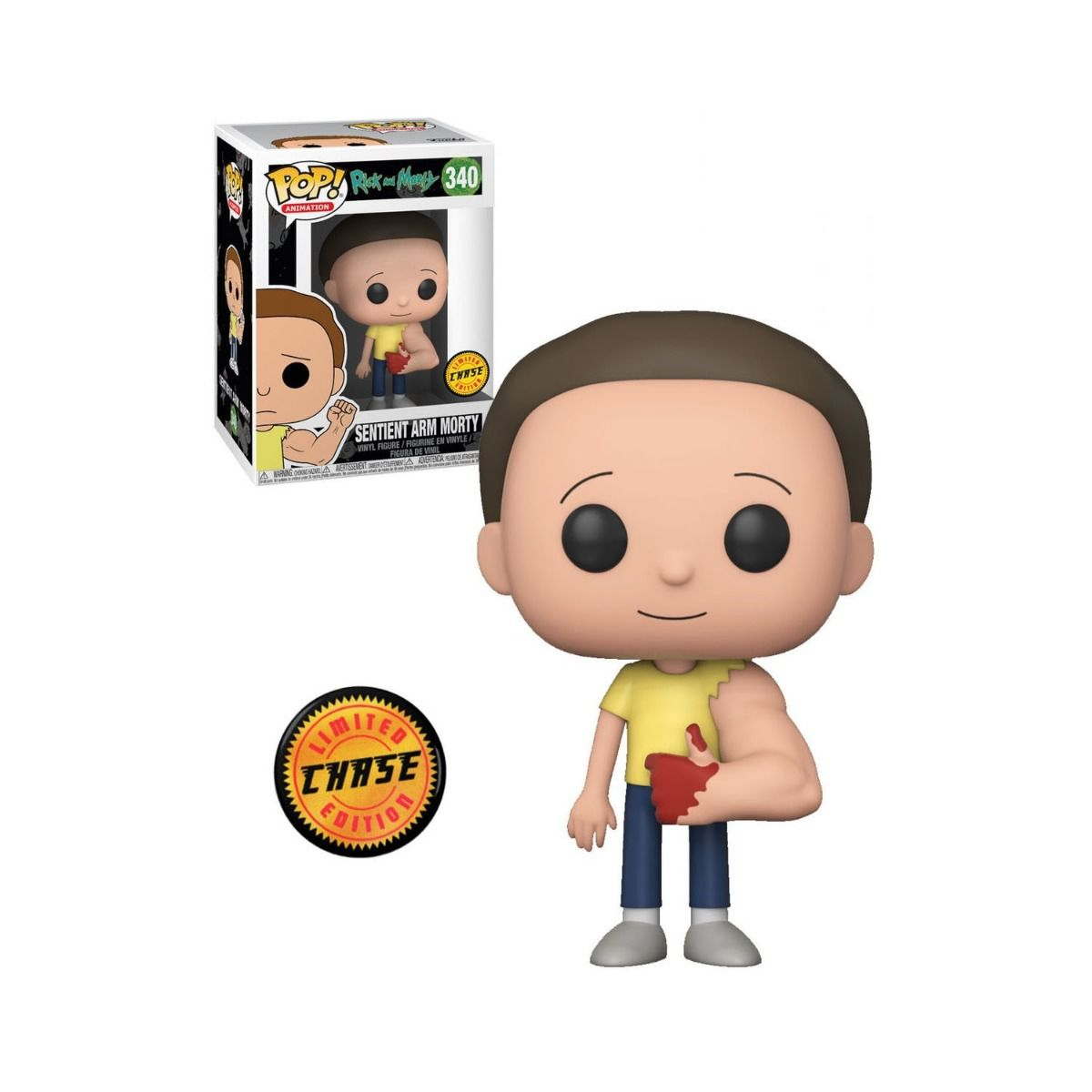 POP FUNKO 340 SENTIENT ARM MORTY RICK AND MORTY CHASE