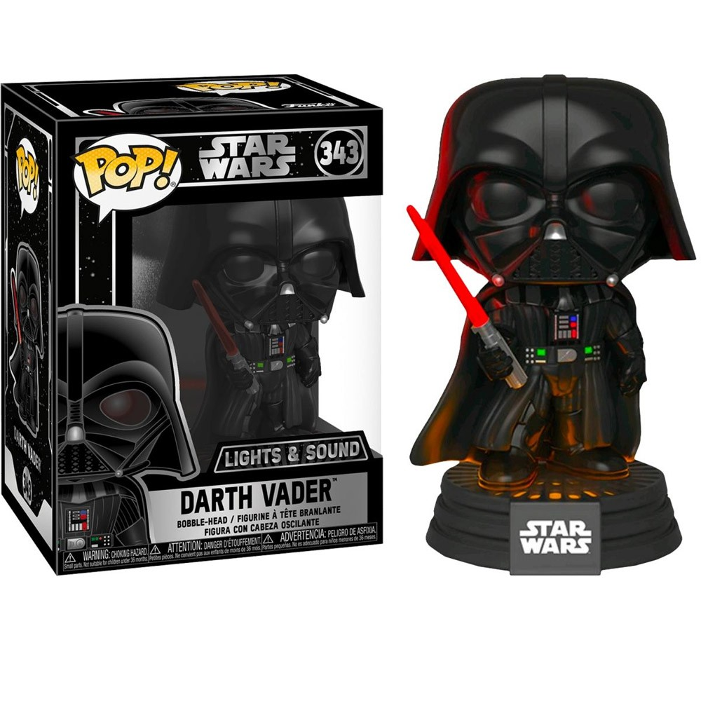 POP FUNKO 343 DARTH VADER LIGHTS E SOUND STAR WARS