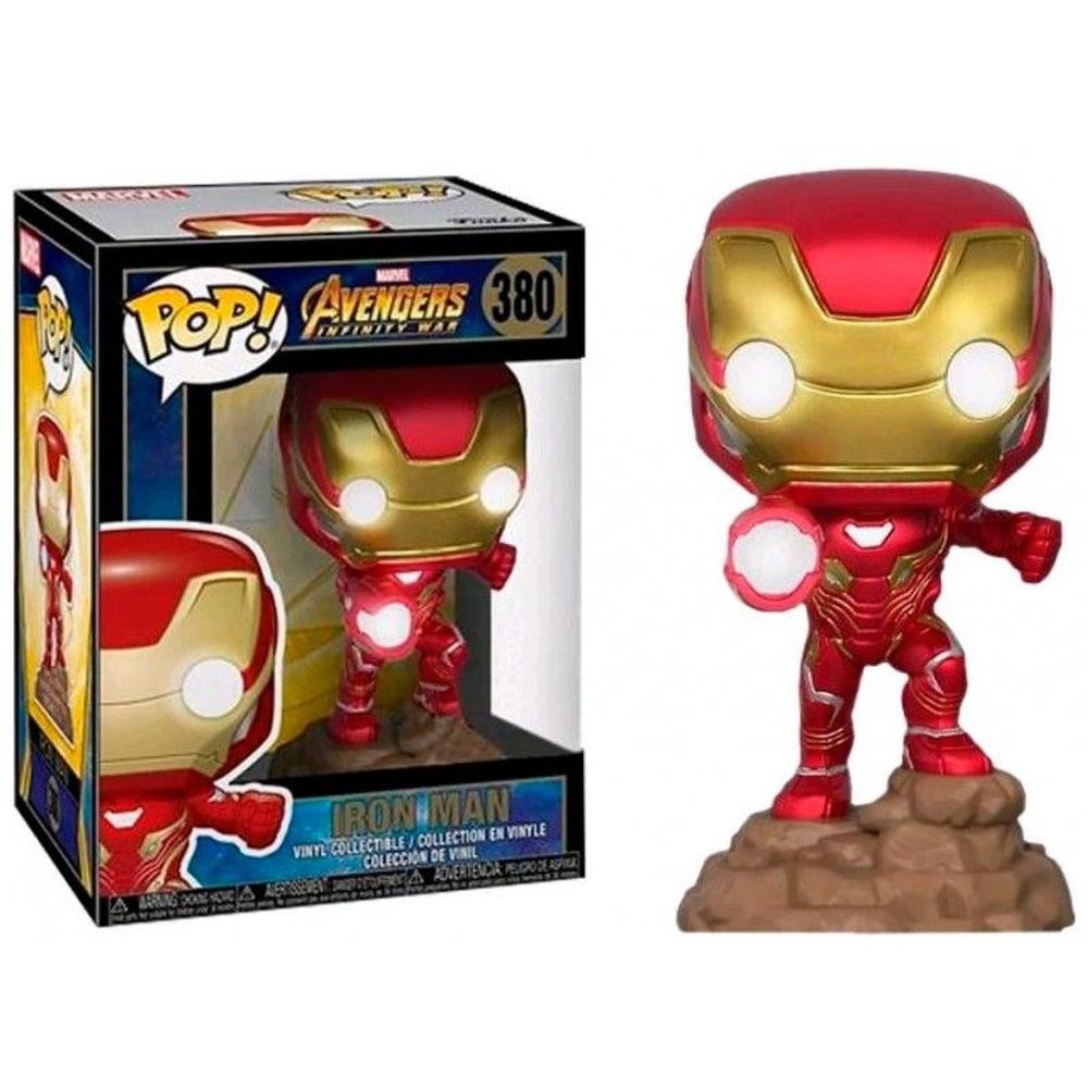 POP FUNKO 380 IRON MAN LIGHTS UP! AVENGERS