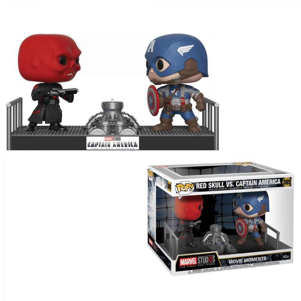 POP FUNKO 389 RED SKULL VS CAPTAIN AMERICA MOVIE MOMENTS