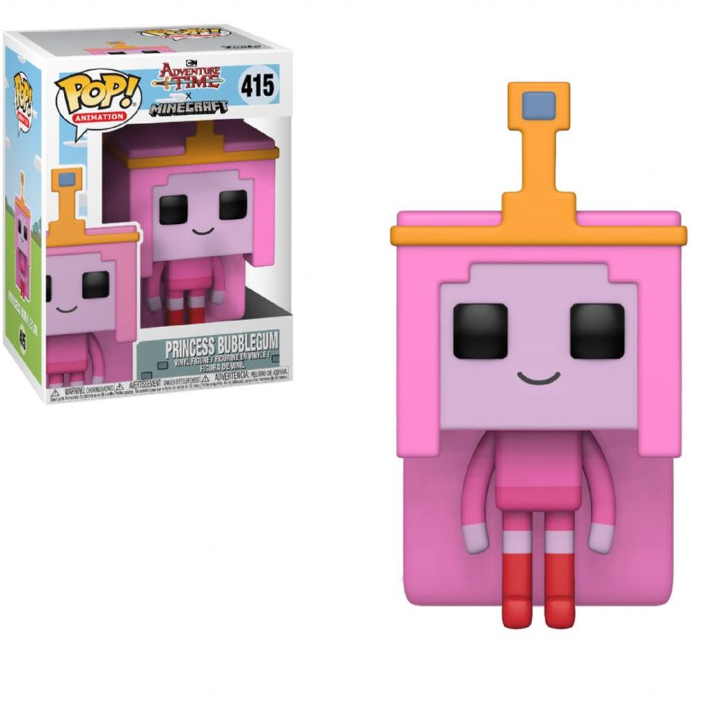 POP FUNKO 415 PRINCESS BUBBLEGUM ADVENTURE TIME MINECRAFT