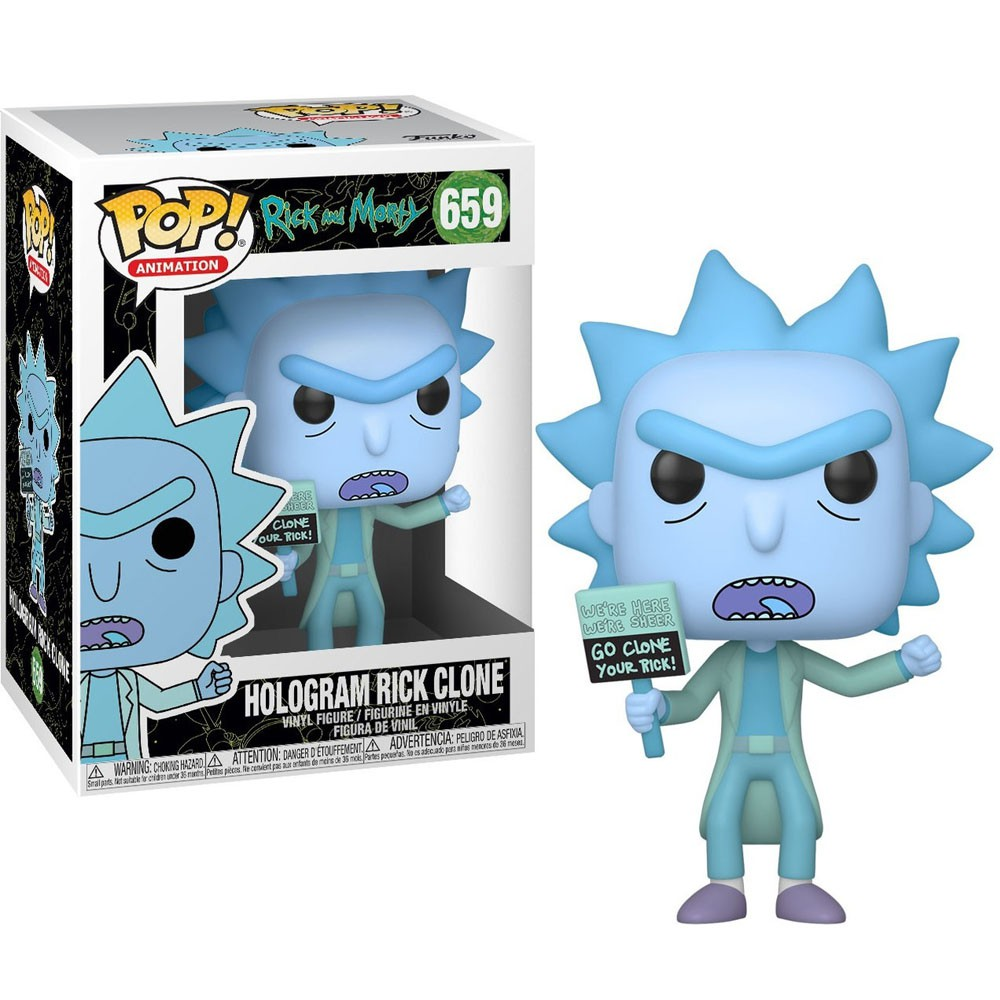 POP FUNKO 659 HOLOGRAM RICK CLONE RICK AND MORTY