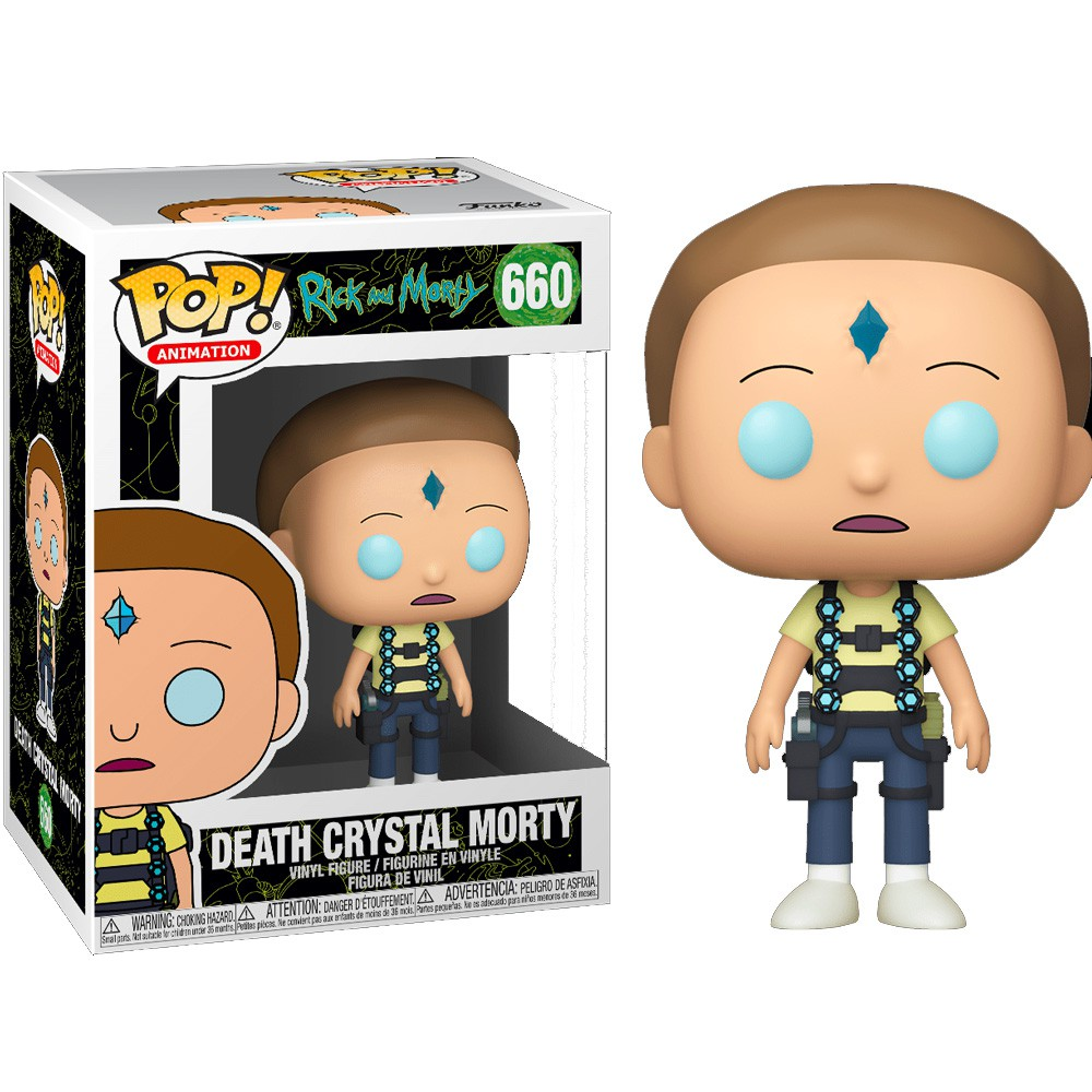 POP FUNKO 660 DEATH CRYSTAL MORTY RICK E MORTY