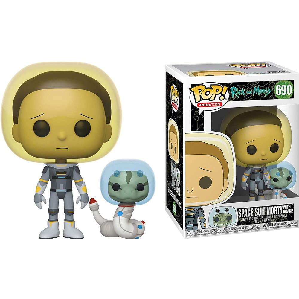 POP FUNKO 690 MORTY SPACE W SNAKE RICK AND MORTY