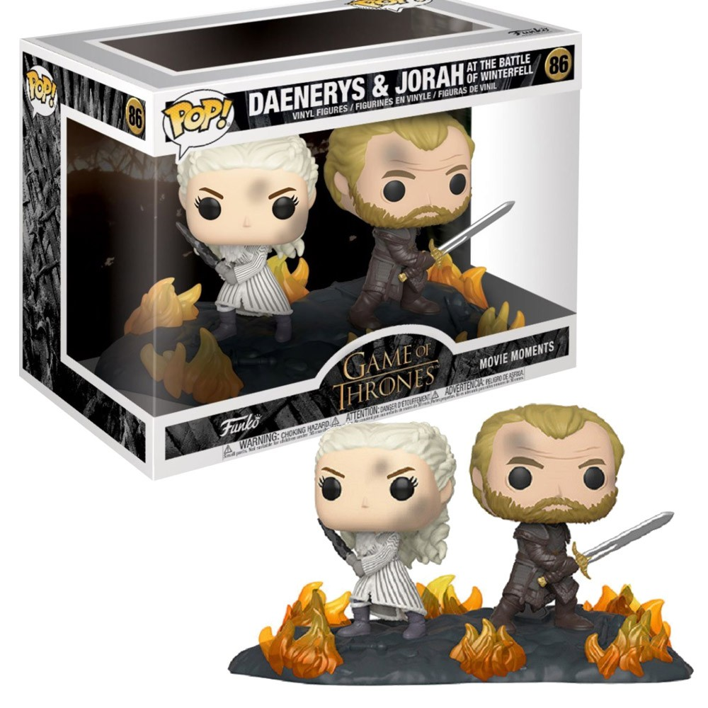 POP FUNKO 86 DAENERYS E JORAH THE BATTLE OF WINTERFELL GOT