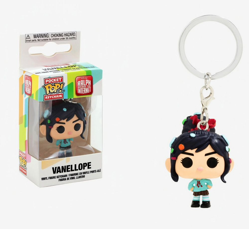 POP POCKET KEYCHAIN VANELLOPE RALPH  BREAKS THE INTERNET