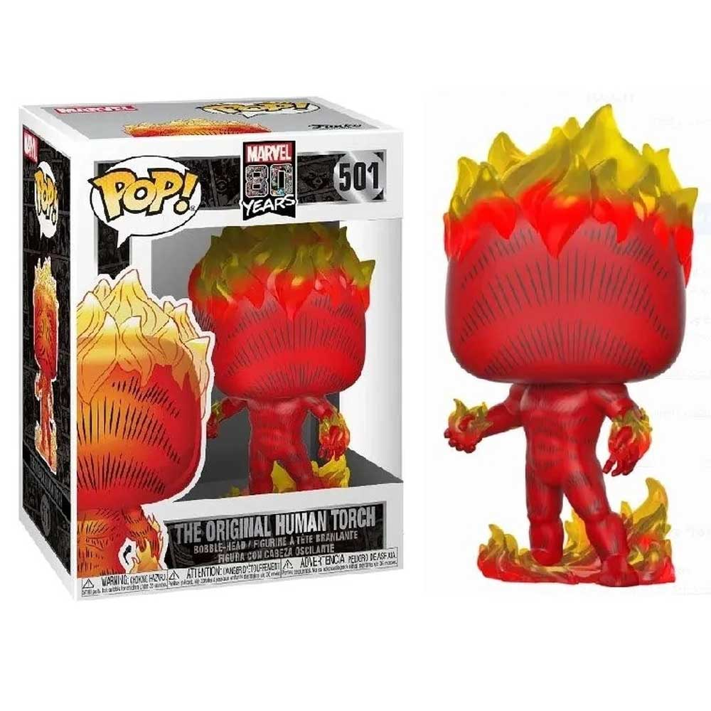 POPO FUNKO 501 THE ORIGINAL HUMAN TORCH 80 YEARS MARVEL