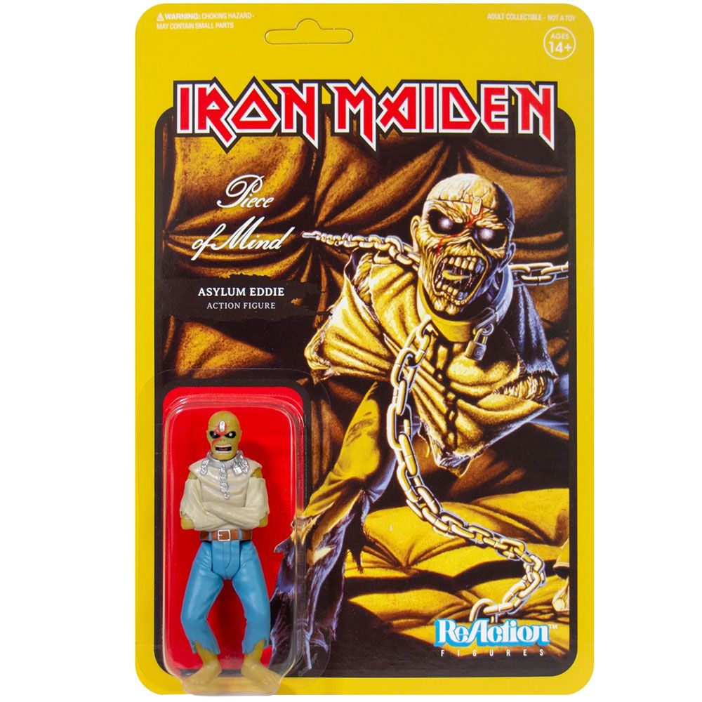 ReAction Iron Maiden Asylum Eddie Piece of Mind SUPER7