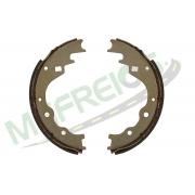 MG-566 - Jogo de sapata de freio c/ lona s/ haste (2 rodas) Kia
