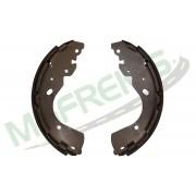 MG-580 - Jogo de sapata de freio c/ lona s/ haste (2 rodas) Nissan