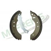 MG-581 - Jogo de sapata de freio c/ lona c/ haste (2 rodas) Escort