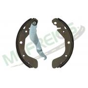 MG-603 - Jogo de sapata de freio c/ lona c/ haste (2 rodas) Onix, Prisma
