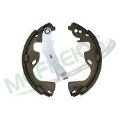 MG-607 - Jogo de sapata de freio c/ lona c/ haste (2 rodas) Toro Flex