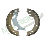 MG-609 - Jogo de sapata freio traseiro c/ lona c/ haste (2 rodas) Trailblazer