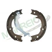 MG-610 - Jogo de sapata freio traseiro c/ lona c/ haste (2 rodas) Trailblazer