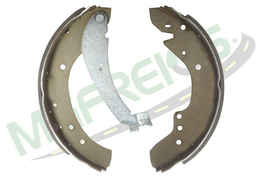 MG-561 - Jogo de sapata de freio c/ lona c/ haste (2 rodas) Citroen