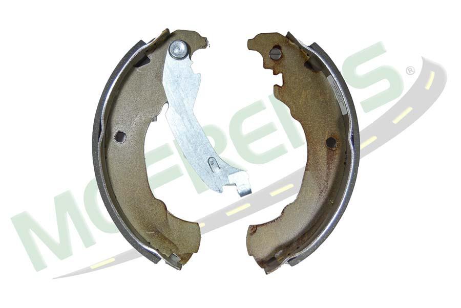 MG-597 - Jogo de sapata de freio c/ lona s/ haste (2 rodas) Fiat