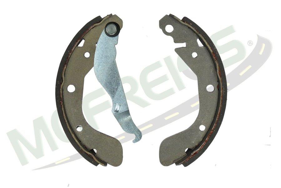 MG-602 - Jogo de sapata de freio c/ lona c/ haste (2 rodas) GM / Chevrolet