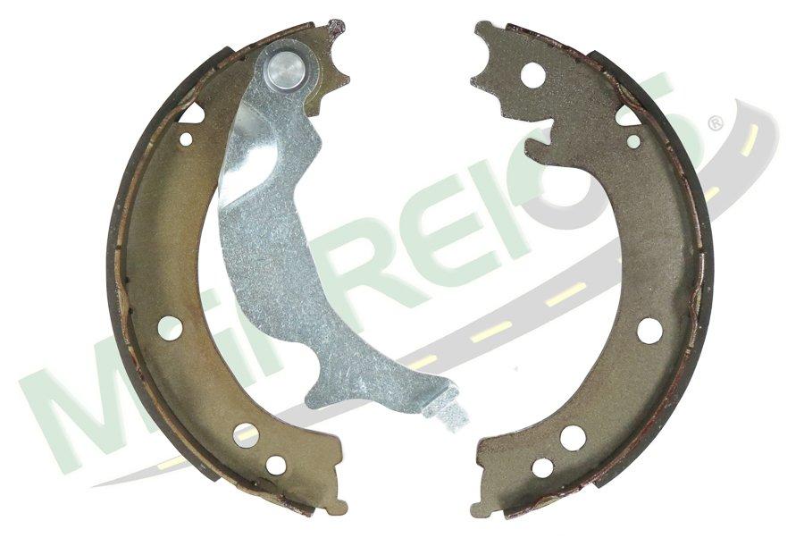MG-609 - Jogo de sapata freio traseiro c/ lona c/ haste (2 rodas) GM / Chevrolet Trailblazer