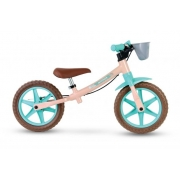 Bicicleta Nathor Aro 12 Balance Bike Love Rosa / Verde Aqua (Sem pedal)