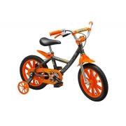 Bicicleta Nathor Aro 14 First Pro Masculina Laranja / Cinza