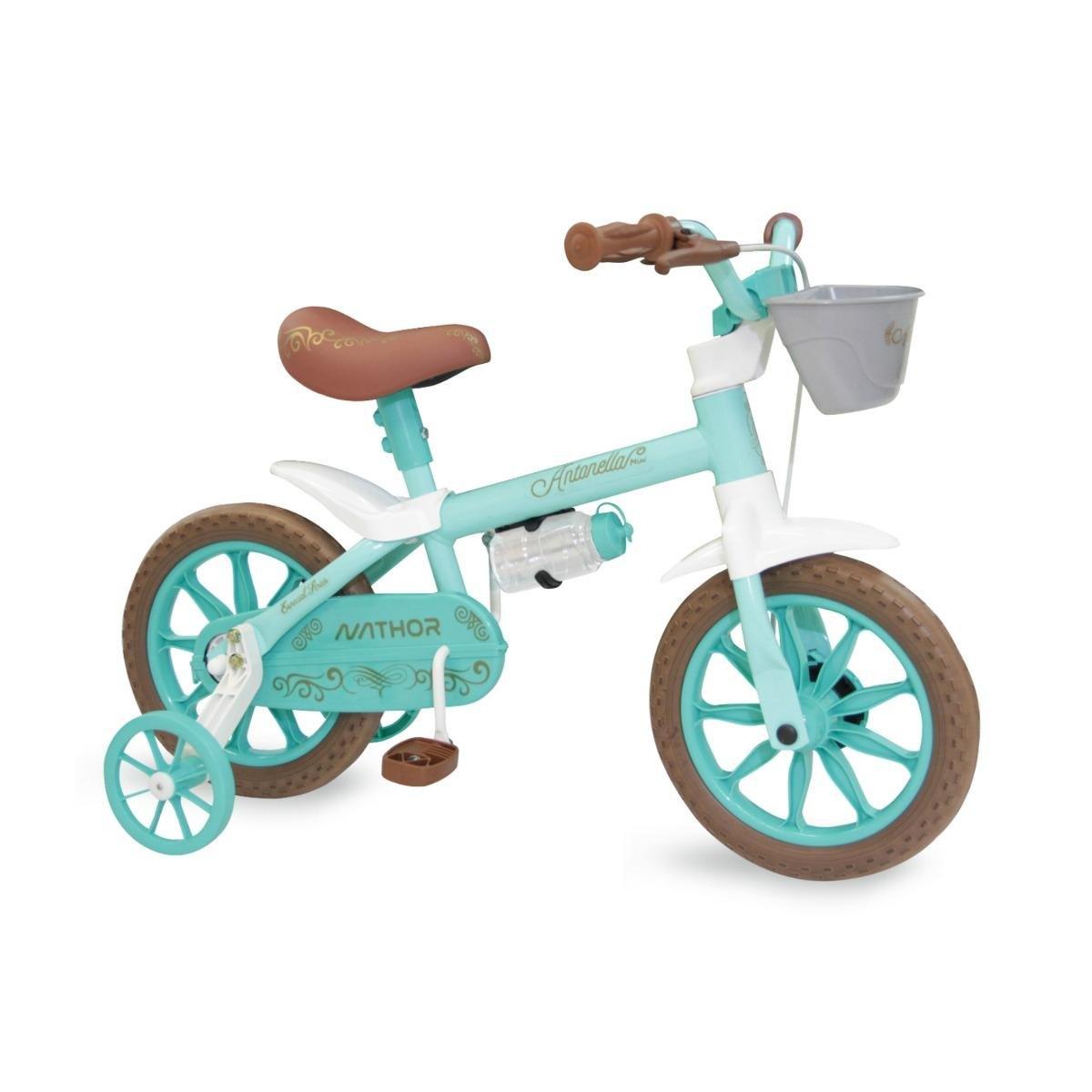 Bicicleta Nathor Aro 12 Antonella Baby Verde Aqua R12