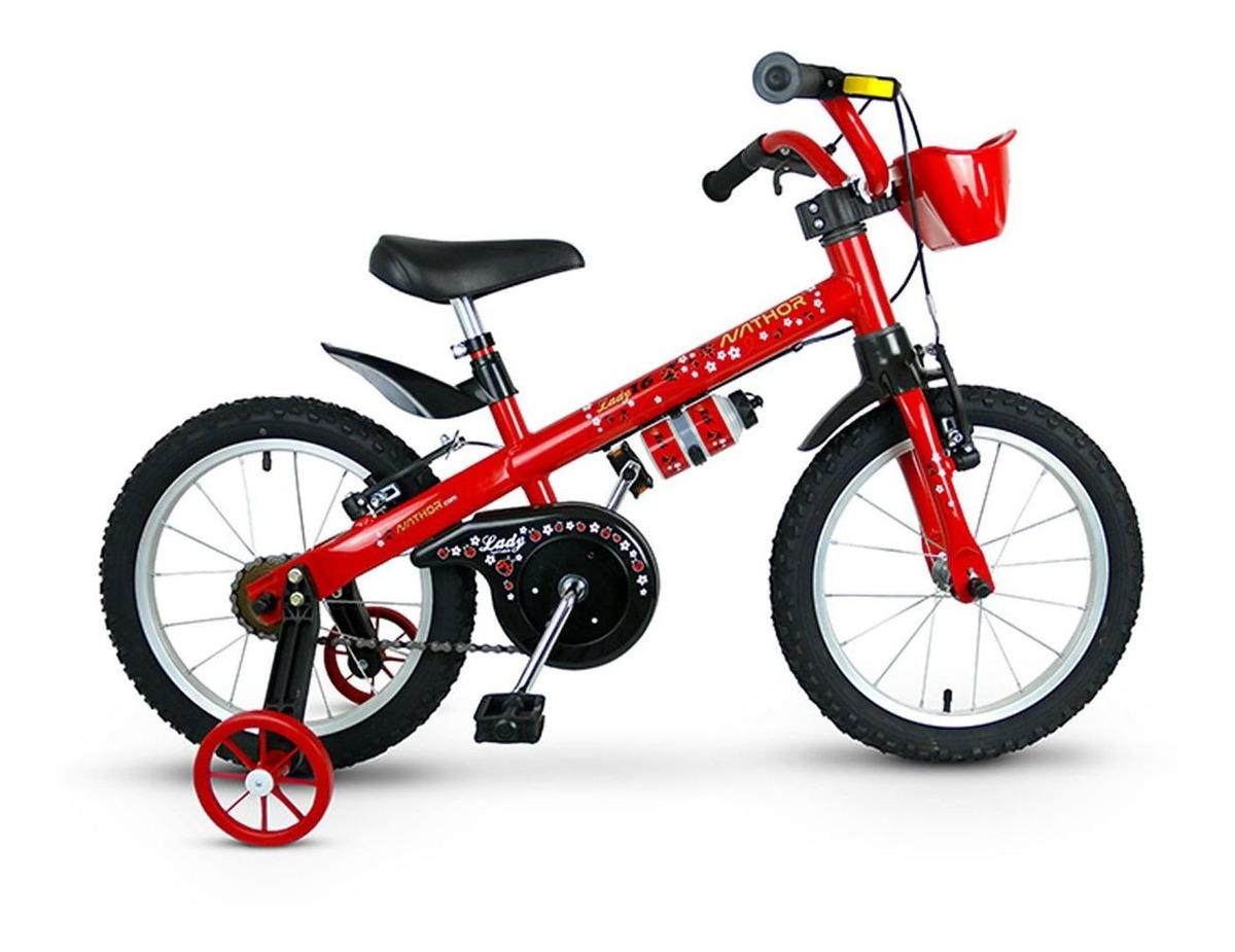 Bicicleta Nathor Lady aro 16 Vermelha R16