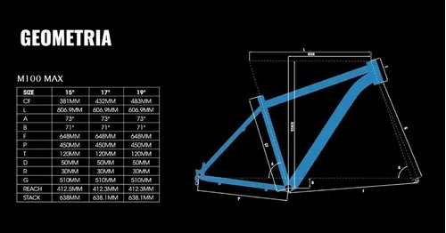 BICICLETA TRINX M100 MAX TAM 15 PRETO/VERMELHO/CINZA