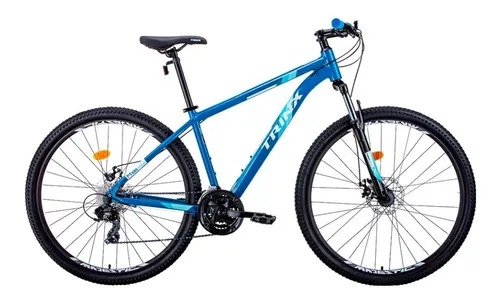 BICICLETA TRINX M100 MAX TAM 17 PRETO/AZUL/BRANCO
