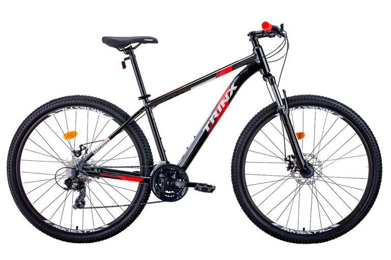 BICICLETA TRINX M100 MAX TAM 17 PRETO/VERMELHO/CINZA