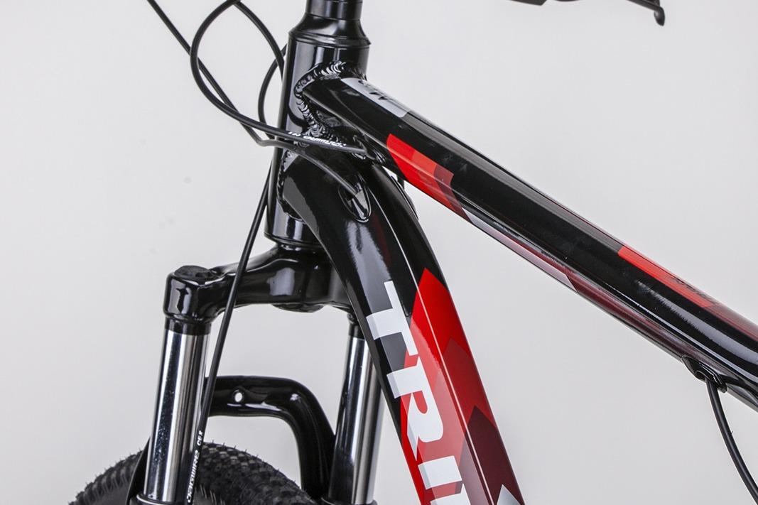 BICICLETA TRINX M100 MAX TAM 19 PRETO/VERMELHO/CINZA
