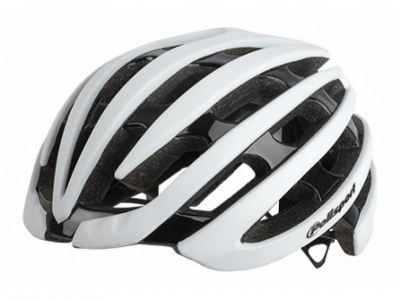 CAPACETE POLISPORT LIGHT ROAD BCO/PTO L58/61CM
