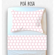 Jogo Mini Cama / Júnior - Poá Rosa