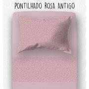 Jogo Mini Cama / Júnior - Pontilhado Rosa Antigo