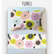Jogo Solteiro - Flores
